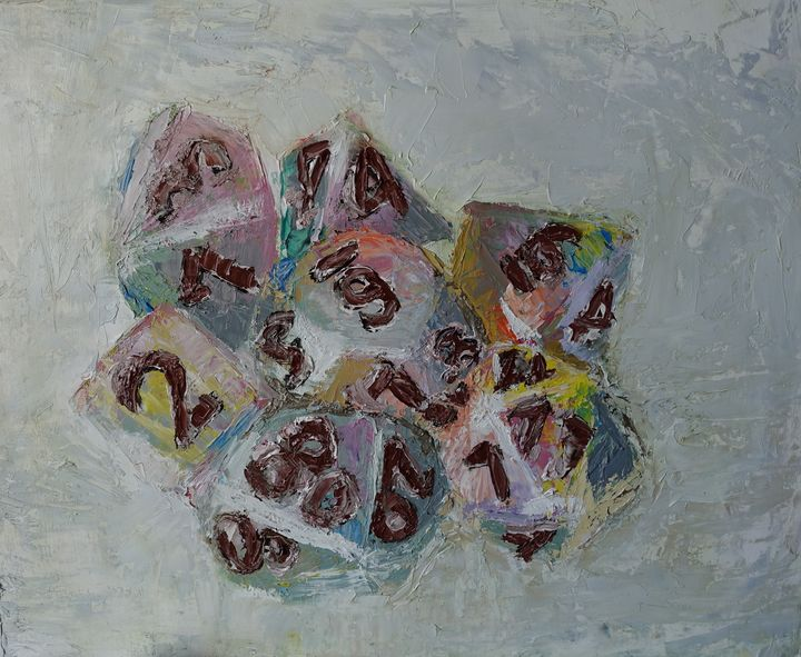 Frozen rainbow dice set - My Gallery