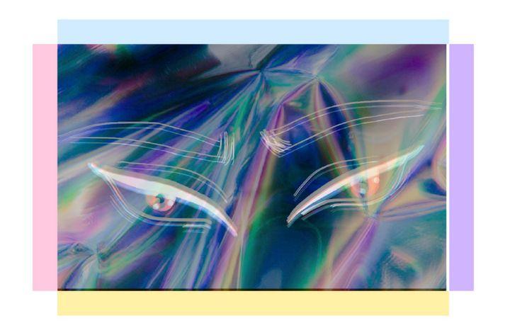 Holographic Eyes - Kiara's Art