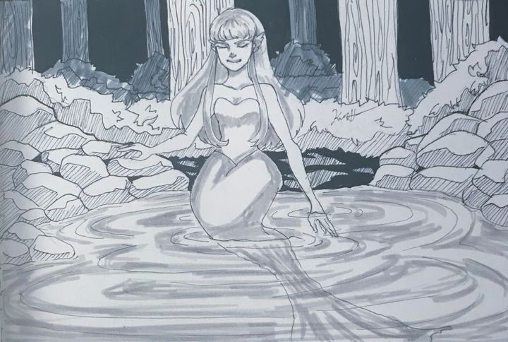 Woodland Mermaid - Kiara's Art
