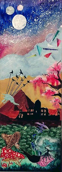 Psychedelic hippie painting - XCIERRAJADEX
