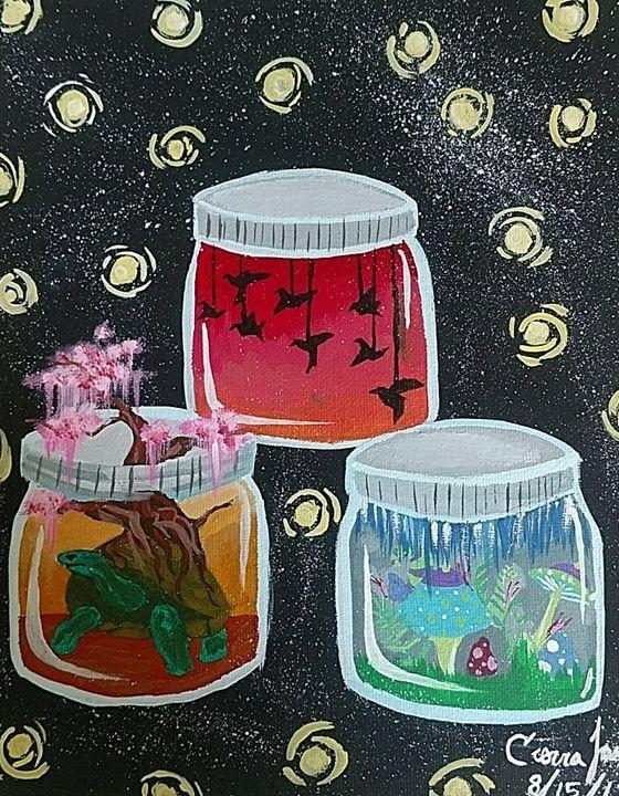 3 jars mini worlds - XCIERRAJADEX