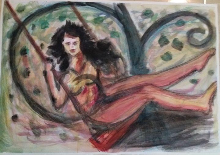 The oscilating girl. - Esterina