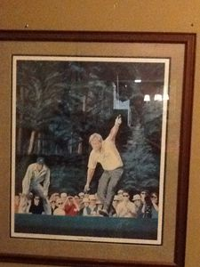 "Signed ""golden moments"" Masters Golf - Leslie"