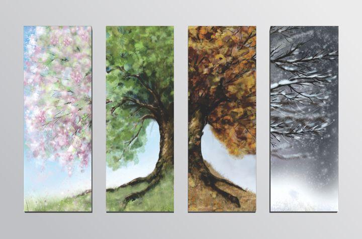 Seasons (4 Panel Split) - pixels2print