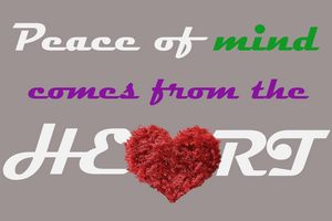 Peace from the heart