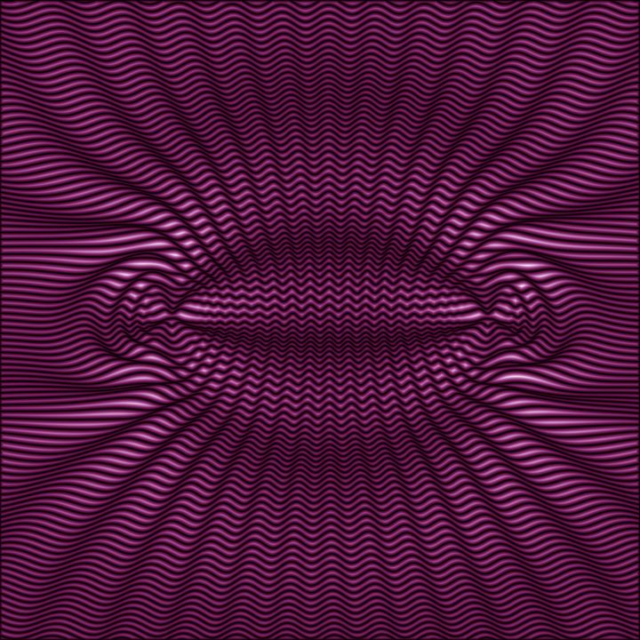 Purple Surround Waves - BonitumART