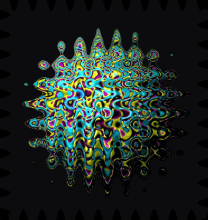 Distorted colorful sphere - BonitumART