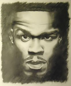 50 Cent Pencil Drawing