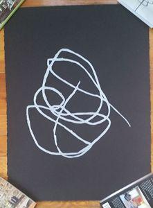 Hutzinger Silver Leaf Print