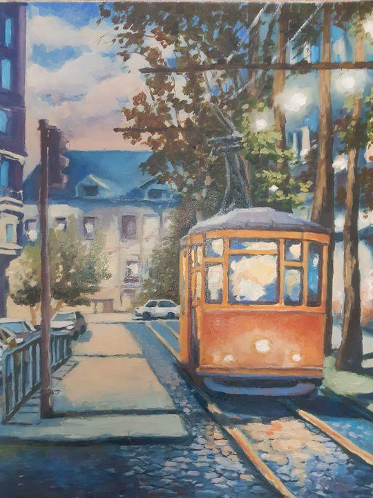The night Tram in Lisbon - Irina Beiu