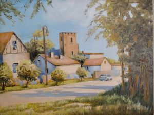 The summer English village
