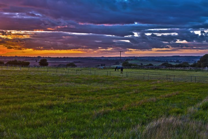 Sunset in the English countryside - Kristin Greenwood