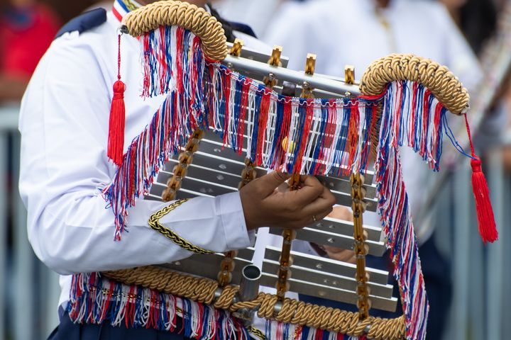 Xylophone player Panama National Day - Kristin Greenwood