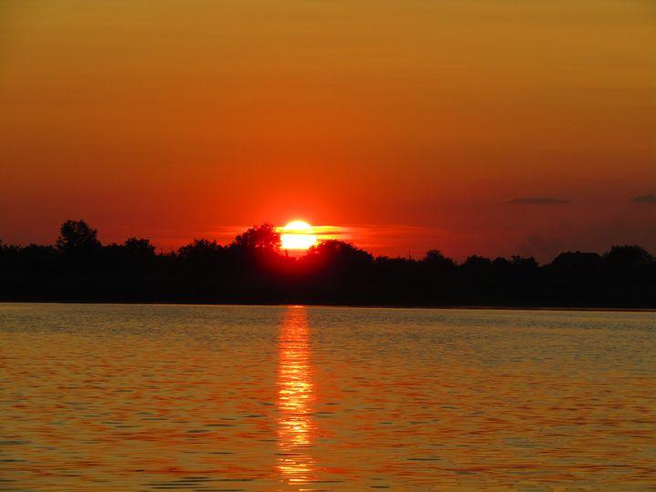 Sunset on Samara river - Antonina