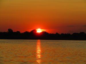 Sunset on Samara river
