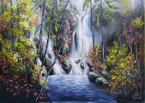 Autumn's waterfall