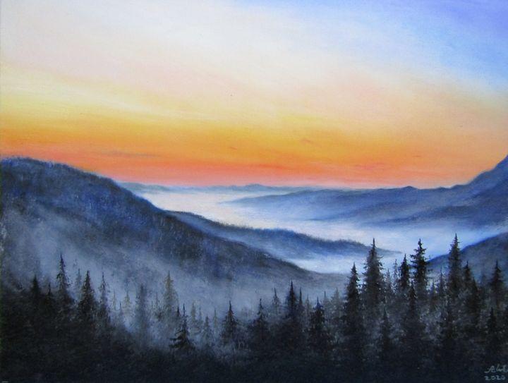 Misty valley/Carpathian mountains - Antonina