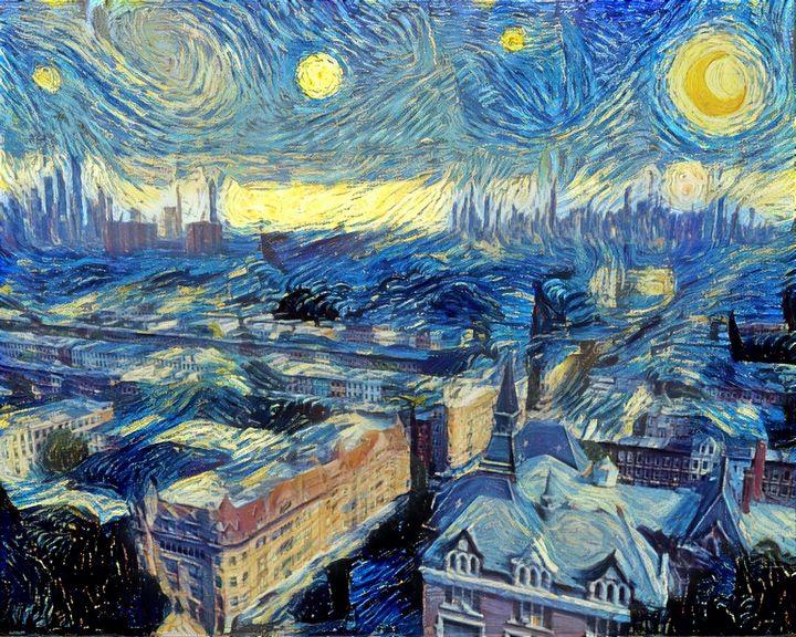 Starry Night, Bed-Stuy Brooklyn - Waning Crescent Studio