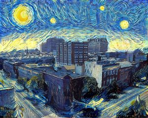 Starry Night, Midtown Baltimore