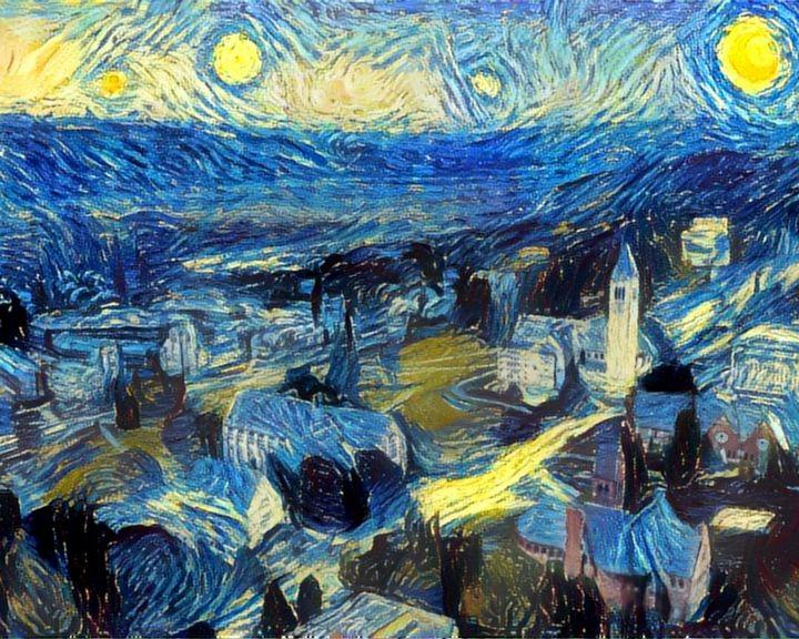 Starry Night, Cornell - Waning Crescent Studio
