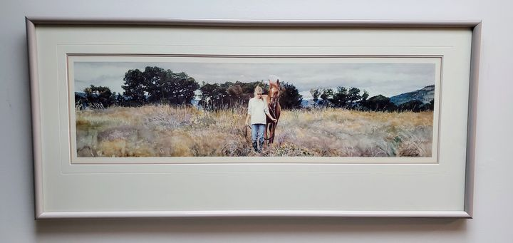 Girl and Her Horse - Former Framing Worker