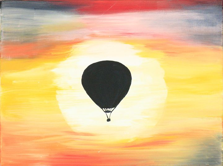 Sunset Balloon - Blue Star Arts and Crafts
