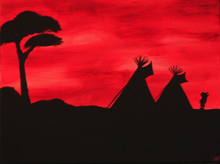 Native Silhouette - Blue Star Arts and Crafts