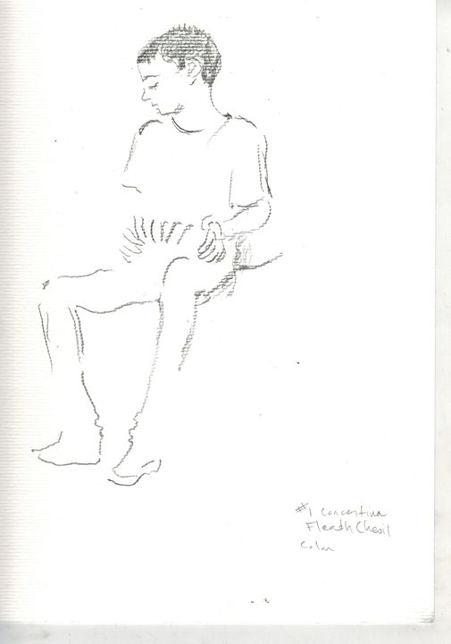 Young Concertina player - Rose Room works by M.R.Reilly