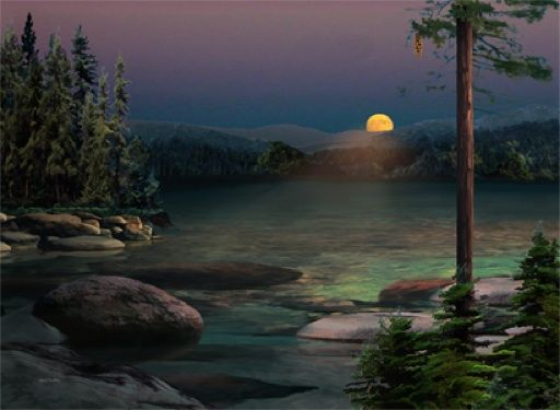 Sunset at Sand Harbor, Lak Tahoe - Paul Bailey Editions