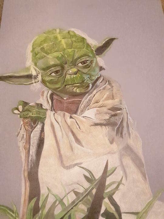 Colour pencil Yoda - SLART