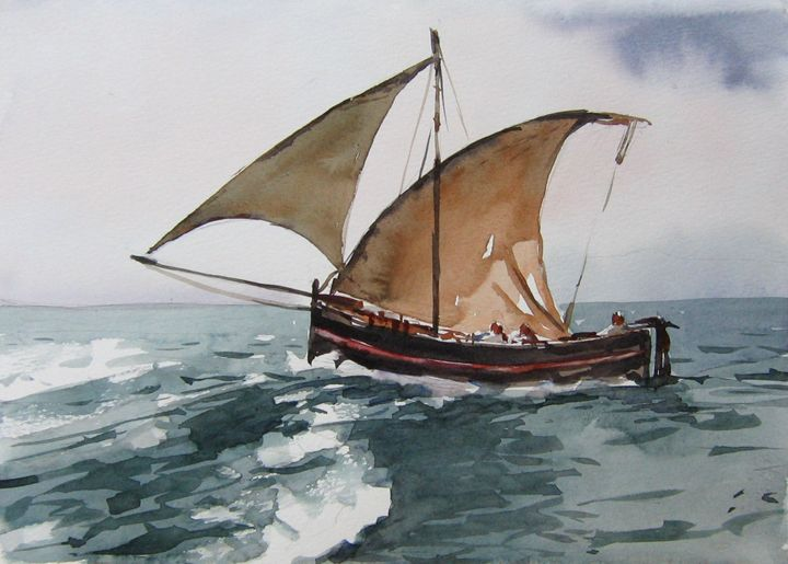 stormy sea sailing - Ziggy