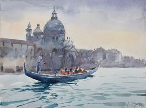 Venice , Saint Mary of Health - Goran ŽIgolić Watercolors