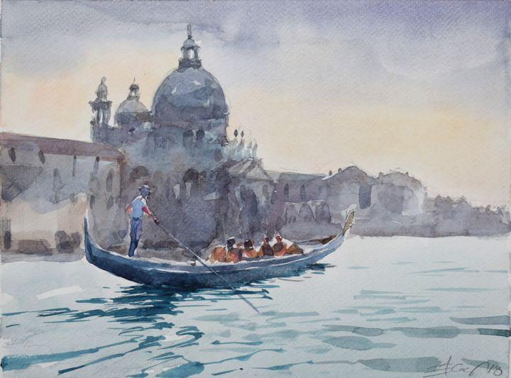 Venice , Saint Mary of Health - Goran ŽIgolić Watercolors