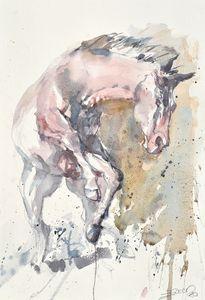 Prancing horse - Goran ŽIgolić Watercolors