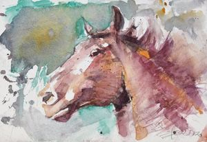 Head of horse - Goran ŽIgolić Watercolors