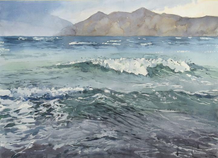 Stormy sea - Goran ŽIgolić Watercolors
