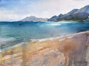 Adriatic sand coast - Goran ŽIgolić Watercolors