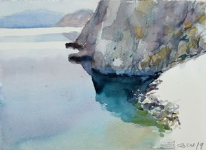 Adriatic coast - Goran ŽIgolić Watercolors