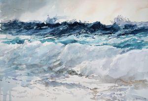 Waves of the mighty sea - Goran ŽIgolić Watercolors