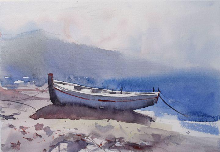 Fishing boat - Goran ŽIgolić Watercolors