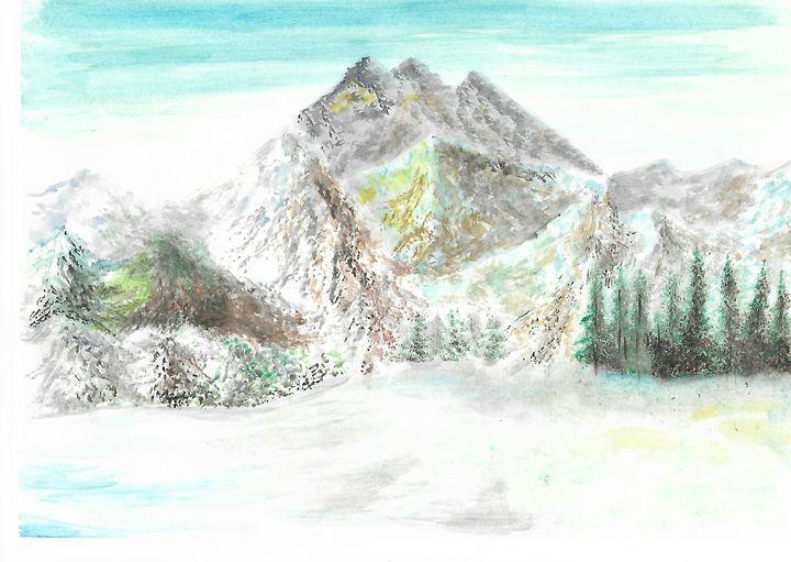 winter mountains - ArtistBear