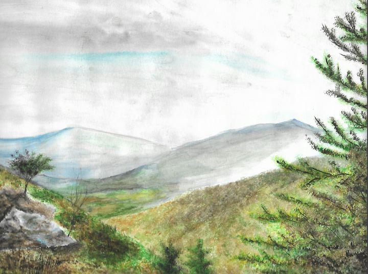 grey day in mountains - ArtistBear