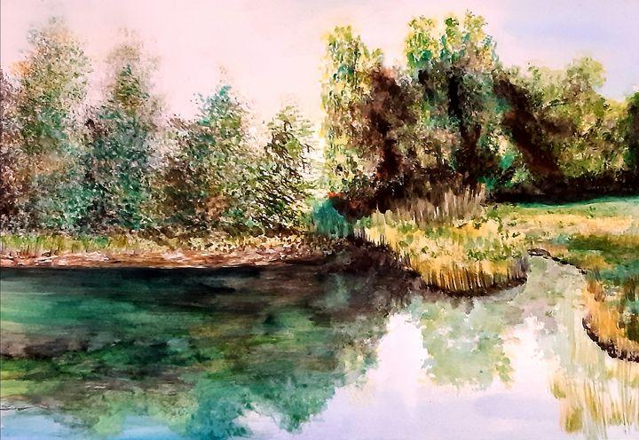 Lake in forest - ArtistBear