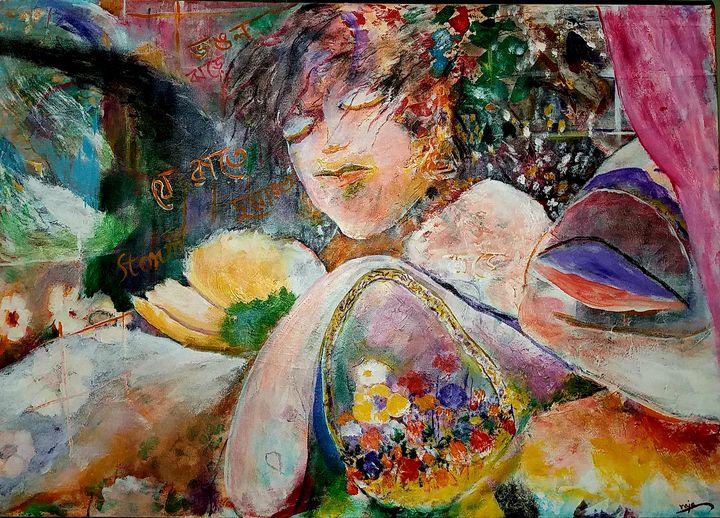 Her dreams - Raja 's fine art