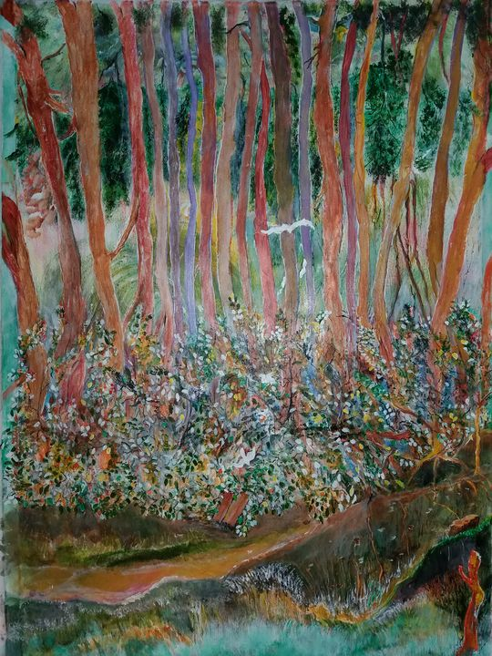 Flora in the forest - Raja 's fine art