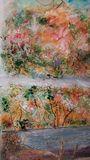 Acrylic on canvas , abstract landsca