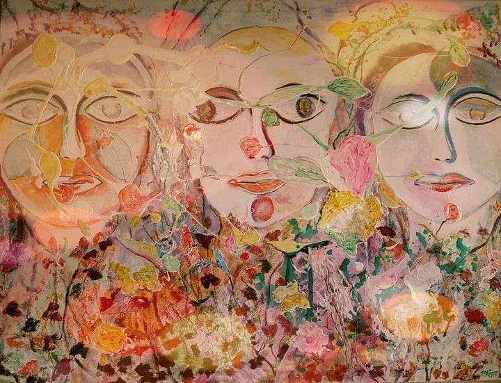Polygamy of butterflies and men - Raja 's fine art
