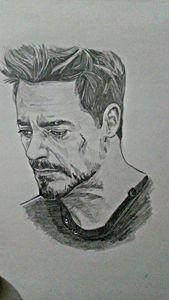 Sketch of Robert Downey jr.as Tony S