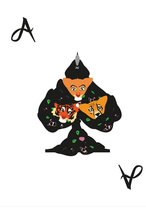 Spades Suit- Ace of cats - inidis