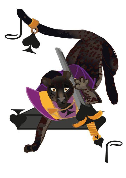 Spades Suit- Jack of cats B - inidis